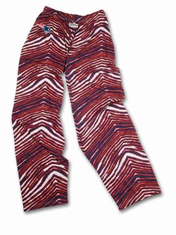 Shop New England Patriots ZUBAZ Red Navy White Vintage Style Zebra Pants