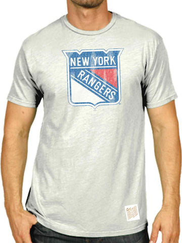 Shop New York Rangers Retro Brand White Washed Out Style Scrum T-Shirt - Sporting Up