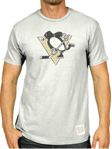 Shop Pittsburgh Penguins Retro Brand White Washed Out Style Scrum T-Shirt