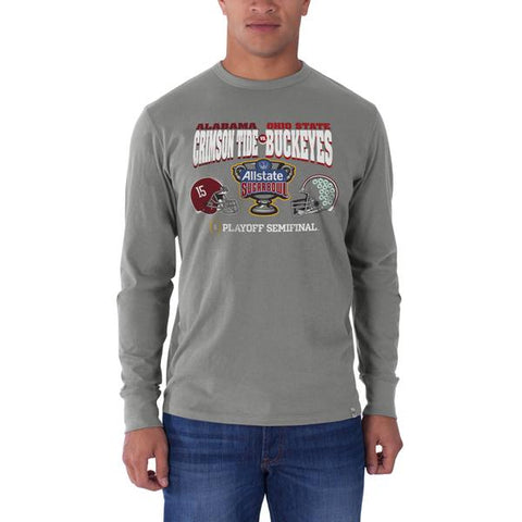 Alabama Crimson Tide Ohio State Buckeyes 47 Brand 2015 Sugar Bowl LS T-Shirt