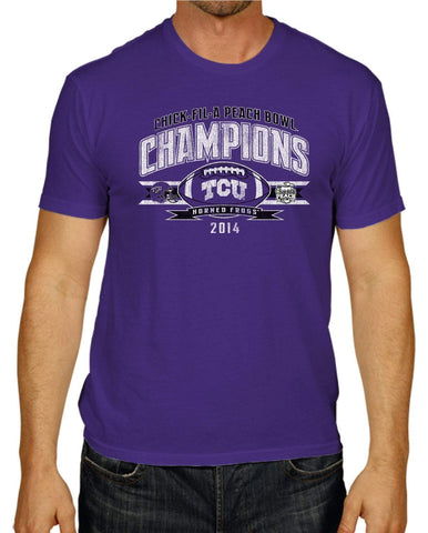 Shop TCU Horned Frogs The Victory 2015 Peach Bowl Champions Purple T-Shirt