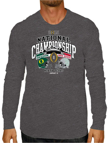 Shop Ohio State Buckeyes Oregon Ducks 2015 National Championship Game LS T-Shirt - Sporting Up