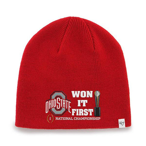 Shop Ohio State Buckeyes 47 Brand 2015 College Football National Champs Cap Beanie