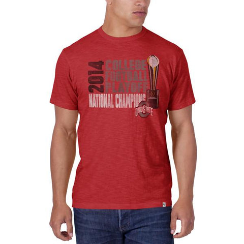 Shop Ohio State Buckeyes 47 Brand 2015 College Football National Champs Red T-Shirt - Sporting Up
