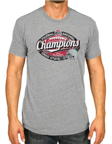 Ohio State Buckeyes Victory 2015 College Football Champs Gray Football T-Shirt - Sporting Up