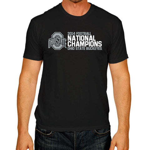 Ohio State Buckeyes Victory 2015 College Football Champions Black Gray T-Shirt - Sporting Up