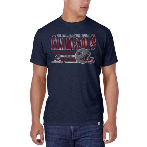 Shop New England Patriots 47 Brand 2015 AFC Champions Super Bowl Scrum Navy T-Shirt