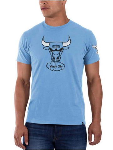 "Shop Chicago Bulls 47 Brand Periwinkle ""Windy City"" Frozen Rope Slim T-Shirt - Sporting Up"
