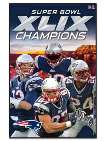 "Shop New England Patriots 2015 Super Bowl XLIX Champions Players Wood Sign 11""x17"""