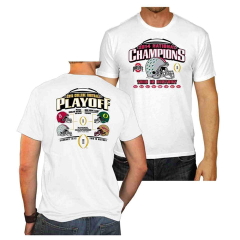 Ohio State Buckeyes 2015 College Football Champions White Short Sleeve T-Shirt