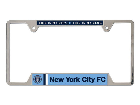 New York City FC Logo WinCraft MLS Chrome License Plate Frame