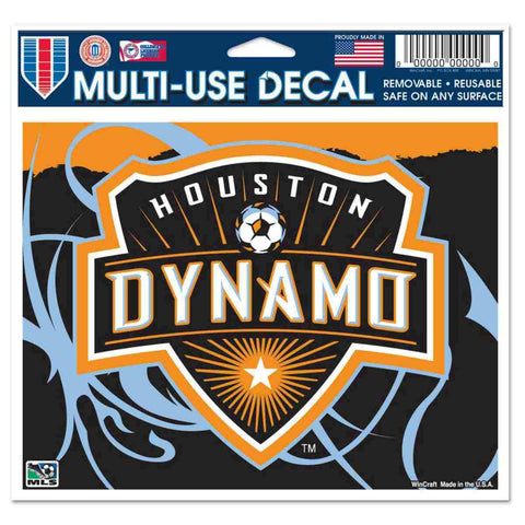 "Shop Houston Dynamo WinCraft Removable Multi-Use Decal 4.5"" x 6"""