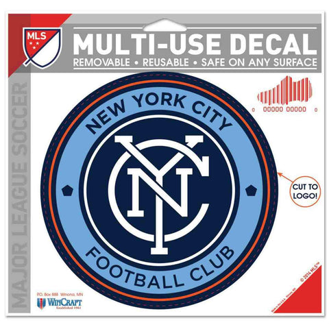 "Shop New York City FC WinCraft Removable Multi-Use Decal Cut to Size 4.5""x5.75"""