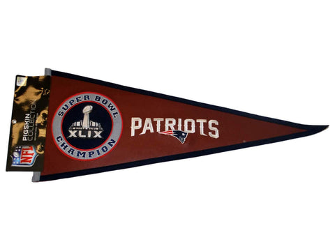 Shop New England Patriots 2015 Super Bowl XLIX Champions Pigskin Pennant - Sporting Up
