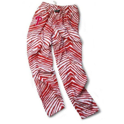 Shop Philadelphia Phillies ZUBAZ Red White Vintage Style Zebra Pants