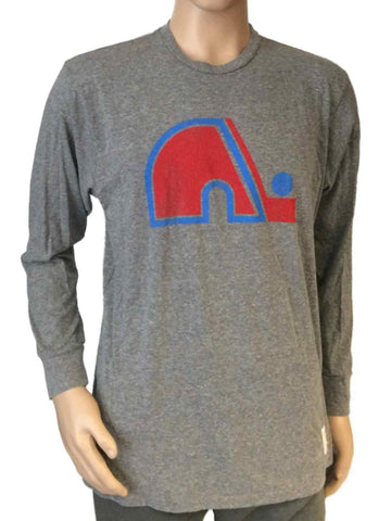 Shop Quebec Nordiques Retro Brand Gray Triblend Vintage Logo Long Sleeve T-Shirt - Sporting Up