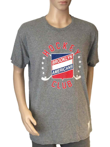 Shop Brooklyn Americans Retro Brand Gray Triblend Vintage Logo T-Shirt - Sporting Up