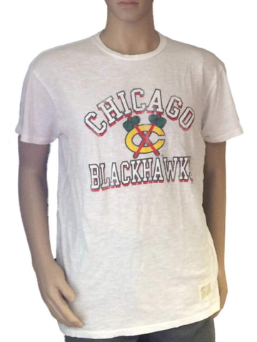 Shop Chicago Blackhawks Retro Brand White Washed Out Slub T-Shirt