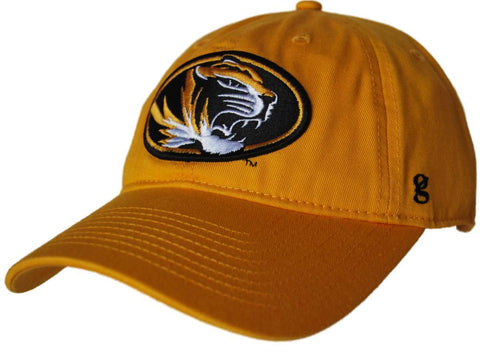 Shop Missouri Tigers Gear for Sports Gold Mascot Logo Fitted Slouch Hat Cap (L)