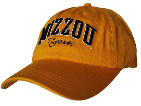 Shop Missouri Tigers Gear for Sports Women Gold Cursive Tigers Adjustable Hat Cap