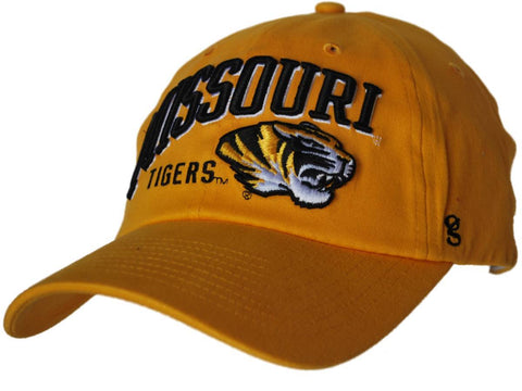 Shop Missouri Tigers Gear for Sports Gold Curved Missouri Flexfit Slouch Hat Cap - Sporting Up