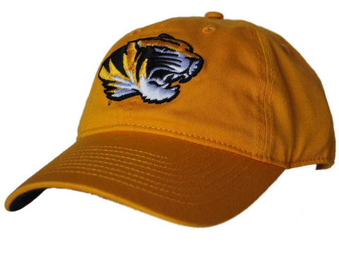 Shop Missouri Tigers Gear for Sports Gold Mascot Logo Adjustable Slouch Hat Cap - Sporting Up