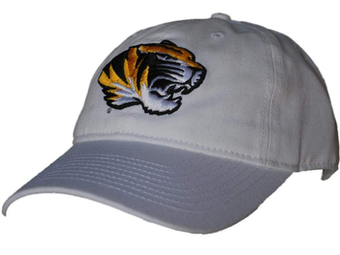 Shop Missouri Tigers Gear for Sports White Mascot Logo Adjustable Slouch Hat Cap