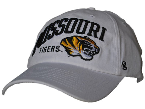 Shop Missouri Tigers Gear for Sports White Curved Missouri Flexfit Slouch Hat Cap