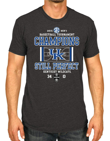 Shop Kentucky Wildcats 2015 SEC Tournament Basketball Champions Gray T-Shirt