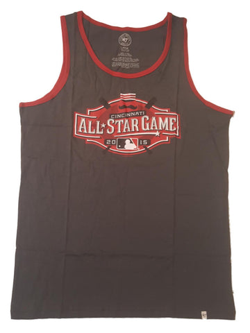 Shop 2015 MLB All-Star Game Cincinnati 47 Brand Charcoal Gray Red Tank Top T-Shirt - Sporting Up