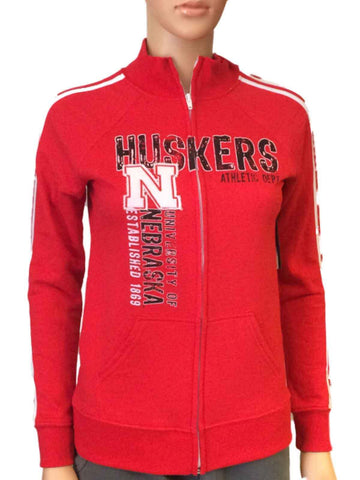 Shop Nebraska Cornhuskers Blue 84 Women Red Fleece Lined Zip-Up Track Jacket - Sporting Up