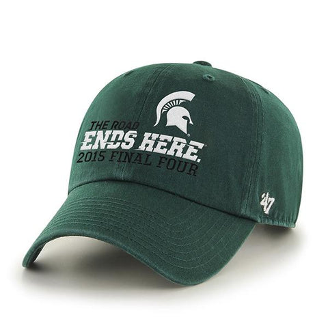 Shop Michigan State Spartans 47 Brand 2015 Indianapolis Final Four Adjustable Hat Cap