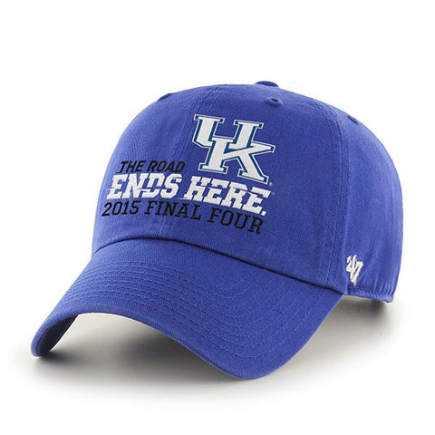 Shop Kentucky Wildcats 47 Brand 2015 Indianapolis Final Four Relax Adjustable Hat Cap - Sporting Up