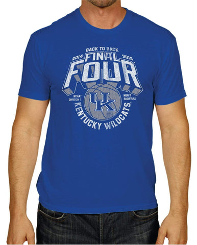 Kentucky Wildcats 2015 Indianapolis Final Four Back to Back Blue T-Shirt