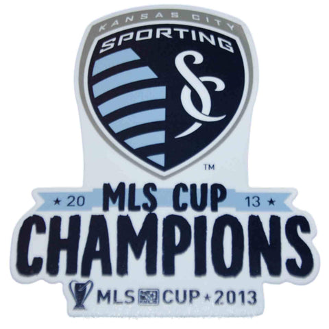 "Shop Sporting KC Kansas City Wincraft 2013 MLS Cup Champs Clear Die-Cut Decal 8""x8"""