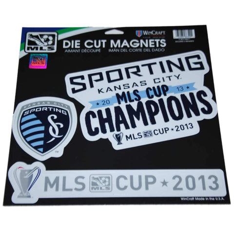 Shop Sporting KC Kansas City Wincraft 2013 MLS Cup Champs Set of 3 Die-Cut Magnets