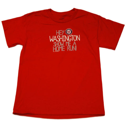 Washington Nationals SAAG Youth Boys Red Home Run Cotton T-Shirt - Sporting Up