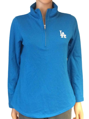 Shop Los Angeles Dodgers SAAG Women Cobalt 1/4 Zip Pullover Lightweight Jacket