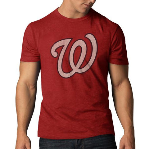 Shop Washington Nationals 47 Brand Rescue Red Soft Cotton Scrum T-Shirt