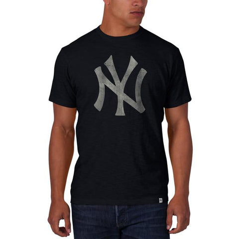 Shop New York Yankees 47 Brand Fall Navy Vintage Logo Soft Cotton Scrum T-Shirt - Sporting Up