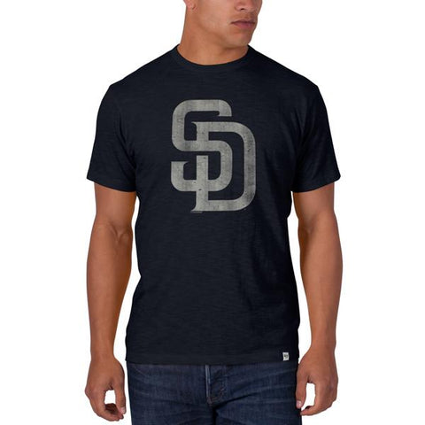"Shop San Diego Padres 47 Brand Fall Navy ""SD"" Logo Soft Cotton Scrum T-Shirt - Sporting Up"