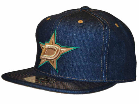 Dallas Stars Mitchell & Ness Denim Structured Flat Bill Fitted Hat Cap (7 3/8)