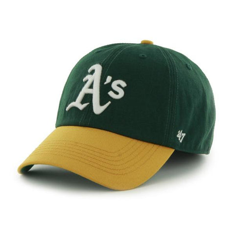 Shop Oakland Athletics 47 Brand Franchise Green Yellow White Logo Home Hat Cap