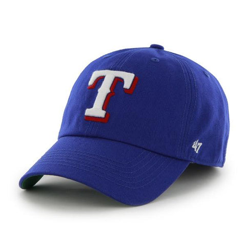 Shop Texas Rangers 47 Brand Franchise Blue White Logo T Flag Back Hat Cap