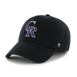 Colorado Rockies 47 Brand Franchise Black Purple CR Logo Script Back Hat Cap - Sporting Up