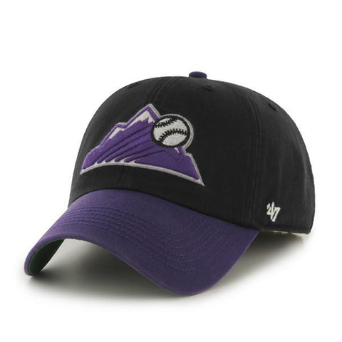 Shop Colorado Rockies 47 Brand Franchise Black Purple Mountain Logo Hat Cap - Sporting Up