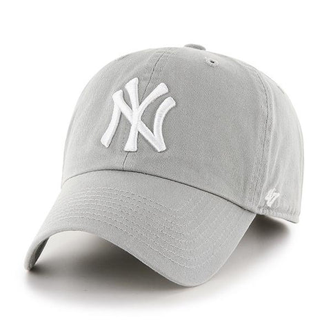 5809d762c04 New York Yankees 47 Brand Gray Clean Up Adjustable Slouch Hat Cap