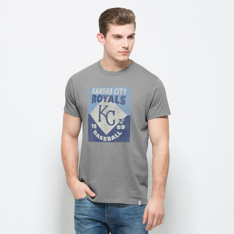 Shop Kansas City Royals 47 Brand Grey Knockaround Flanker 1969 Cotton T-Shirt - Sporting Up