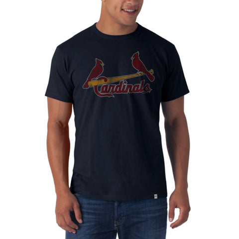 St. Louis Cardinals 47 Brand Fall Navy Soft Cotton Flanker T-Shirt