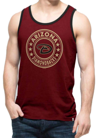 Shop Arizona Diamondbacks 47 Brand Cardinal Red All Pro Soft Cotton Tank Top T-Shirt